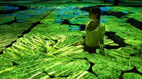 Interactive Rice Fields - TeamLab Japan's Digital Art Installation Uses Mapping Technology