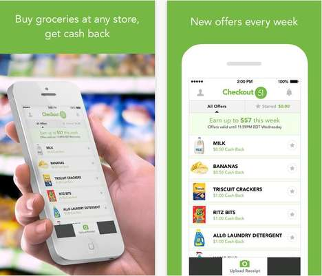 Coupon Cashing Apps - The Checkout 51 App Takes Couponing into the Digital Age