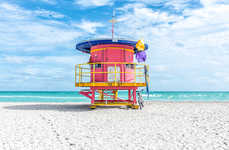 Lifeguard Post Portraits - Richard Silver's Miami Photography Series Captures Quirky Landmarks