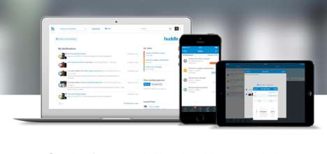 Collaborative Workflow Software - Huddle Enables Businesses to Share Files In and Outside the Office