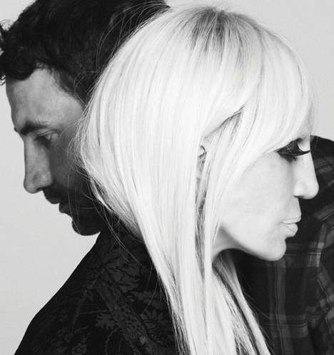Rival Designer Marketing - This Givenchy Campaign Features Riccardo Tisci and Donatella Versace