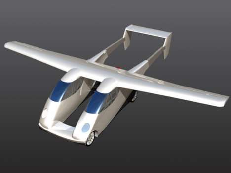 Twin-Fuselage Carplanes - This Carplane Prototype Was Unveiled in Germany