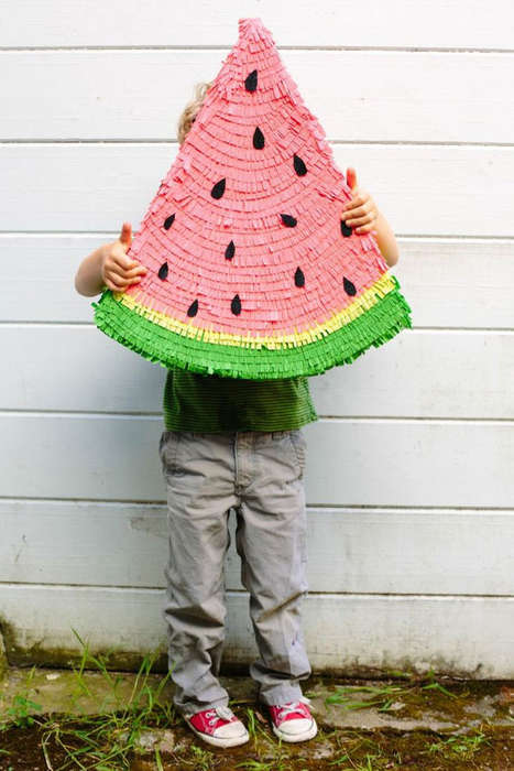 Watermelon Pinata DIYs - Oh Happy Day's Party Accessory Celebrates Cinco de Mayo