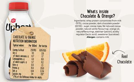 Chocolate Fruit Juices - Upbeat Protein Drinks Include Flavors Like Cocoa and Orange Combined