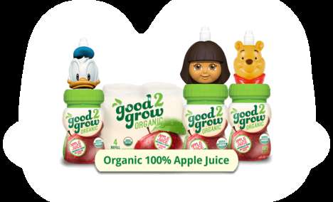 Cartoon-Topped Juices - Good2grow's Rebrand Includes Caps Resembling Characters from Kids' Movies