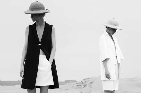 Understated Desert Photography - L'officiel Turkey's Latest Exclusive Highlights Minimalist Fashions