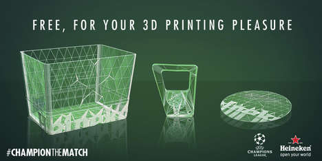 3D-Printable Beer Tools - Heineken's #ChampionTheMatch Campaign Shares 3D Printable Designs