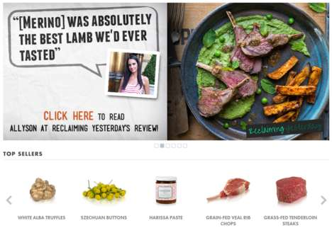 Clean Food E-Commerce - Bulk Find Foods E-Retailer Marx Foods's Website has a Streamlined Design