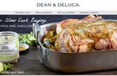 Tantalizing Food Websites - The Dean & Deluca Website is Sleek and Boasts Cohesive Branded