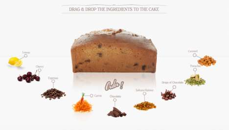 Interactive Baking Pages - A Creative Cake Website Lets Users Test Ingredients by Drag and Drop