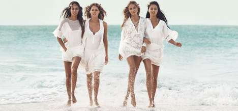 Bohemian Swimwear Campaigns - H&M's Latest Summer Ads Feature Recognizable Supermodels