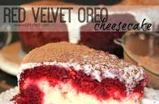 Red Velvet Cheesecakes - This Recipe for Red Velvet Oreo Cheesecake Combines Three Epic Elements