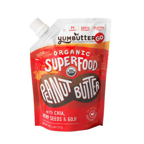 Nourishing Nut Butter - YumButter's Superfood Snacks Come in Squeezable Pouches