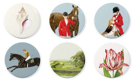 Painted Pocket Mirrors - Felix Doolittle's Reflective Accessories Feature Charming Illustrations