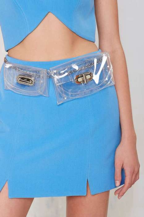 Nostalgic Waist Belts - This Modern Fanny Pack Boasts a Chic and Transparent Design