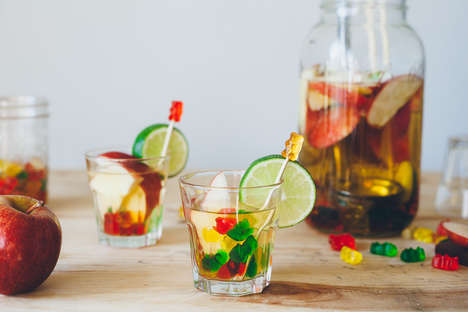 Colorful Gummy Sangrias - This Sweet Cinco de Mayo Cocktail Rescipe Uses Drunk Gummy Bear Candies