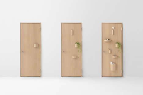 Eccentric Door Designs - Nendo's Seven Doors Become Hybrid Home Features with Whimsical Charm