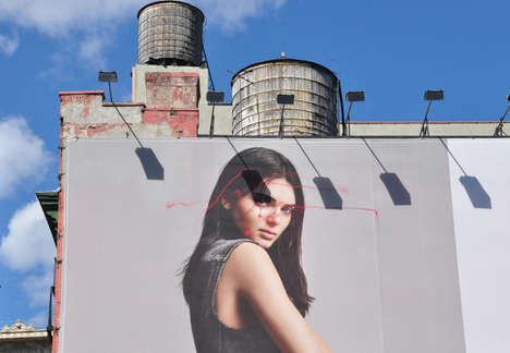 Hacked Drone Graffiti - KATSU's Phantom Drone Vandalism Stunt Transform an NYC Billboard