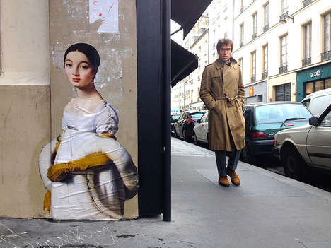 Classical Urban Paintings - Julien de Casabianca's Graffiti Murals are Museum-Inspired