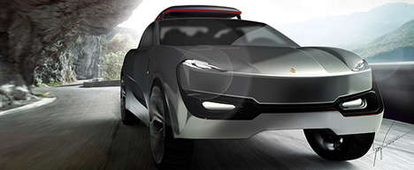 Luxury Compact SUVs - This Concept for a Small Porsche SUV Gives Motorists a Happy Medium