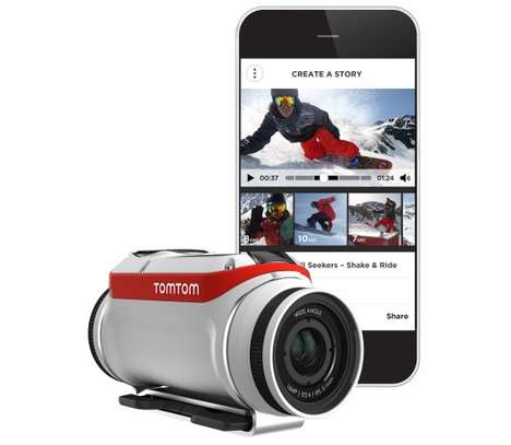 Shakeable Action Cameras - The TomTom Bandit Has a 'Shake to Edit' Function