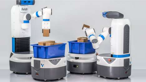 Speedy Warehouse Robots - The Fetch and Freight Robots Work Together As a Team