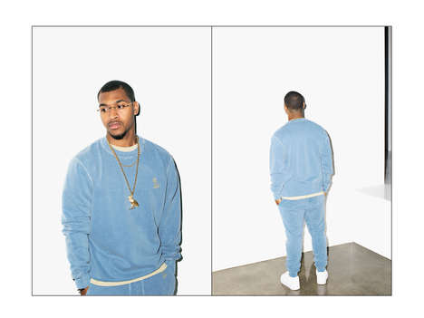 Velour Hip Hop Fashion - The Latest OVO Lookbook Highlights Comfy and Pastel-Hued Styles