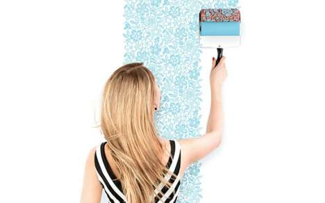 Patterned Paint Rollers - Valikus is a Large Cylindrical Stamp That Ornaments Your Wall with Pigment