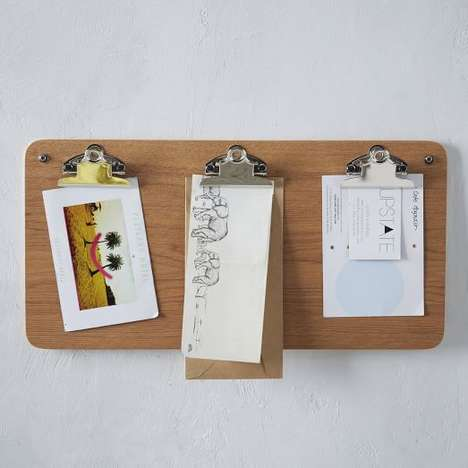 Clipboard Wall Storage - West Elm's Notice Board Helps Home Owners Stay Organized and Informed