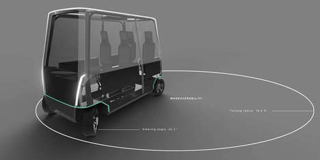 Versatile Driverless Vehicles - The Vitreous Concept Car Seats Only Passengers for Observatory Rides