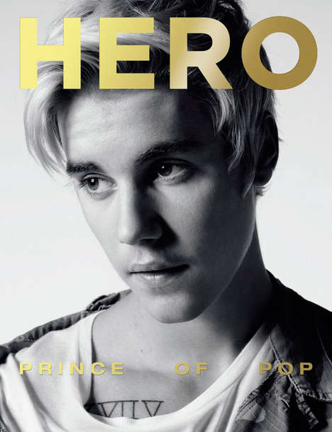 Understated Heartthrob Portraits - The Justin Bieber Hero Cover Story Shows Off the Star's Soft Side
