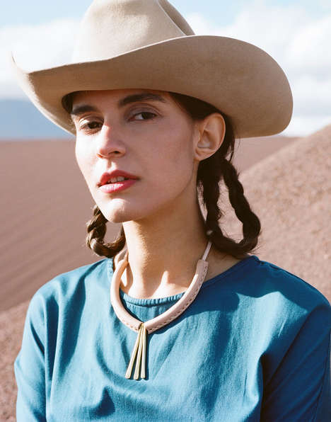 Wandering Cowgirl Lookbooks - The Latest Crescioni Ads Pair Rancher Styles with Desert Backdrops