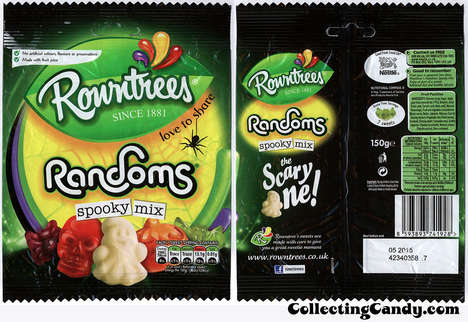 Jelly Halloween Confections - Rowntrees' Spooky MIx Features Gummy Halloween Candies