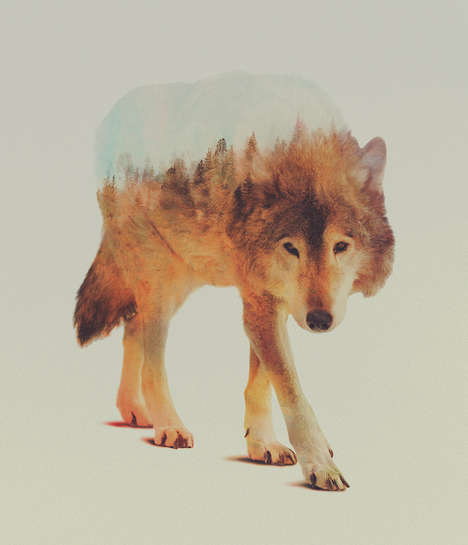 Double Exposed Animal Portraits - Andreas Lie is the Photographer Behind This Beautiful Series