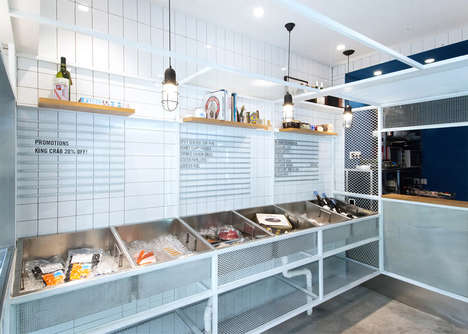 Marina-Inspired Seafood Shops - This Seafood Shop in Shanghai Boasts Intricate Design Details