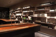 Spa-Inspired Retail Concepts - This Aesop Store by JamesPlumb Boasts Shelves with Running Water