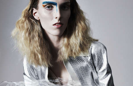 Eccentric Aesthetics Editorials - The Vogue Italia Online Lea Nielsen Photoshoot Shows Bold Makeup