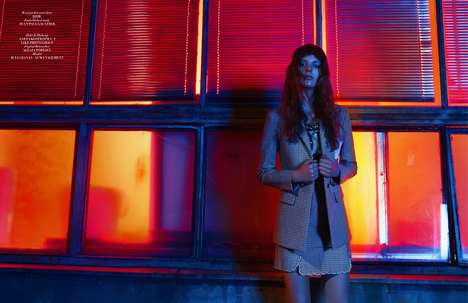 Explicitly Illuminated Editorials - The L'Officiel Singapore Double Edge Photoshoot is Brightly Lit