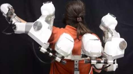 Rehab Robot Exoskeletons - The Harmony Robotic Exoskeleton is Designed For the Upper Body