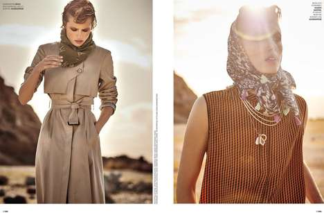 Sun-Specific Editorials - The Marie Claire Greece Sahara Photoshoot Features Bold Pops of Light