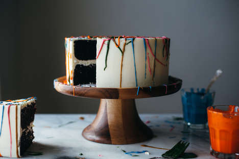 Paint Splatter Cakes - This Cinco de Mayo-Celebrating Chocolate Chili Dessert has Tequila Frosting