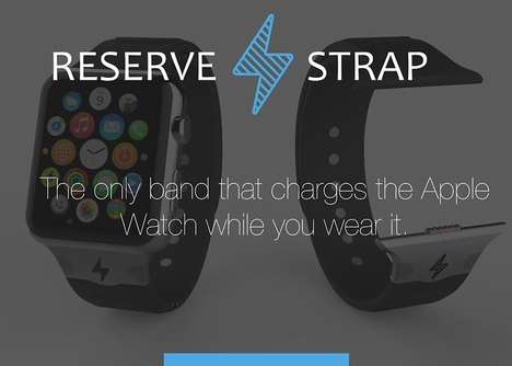 Battery-Boosting Watch Straps - The Reserve Strap Charges the Apple Watch While You Wear It