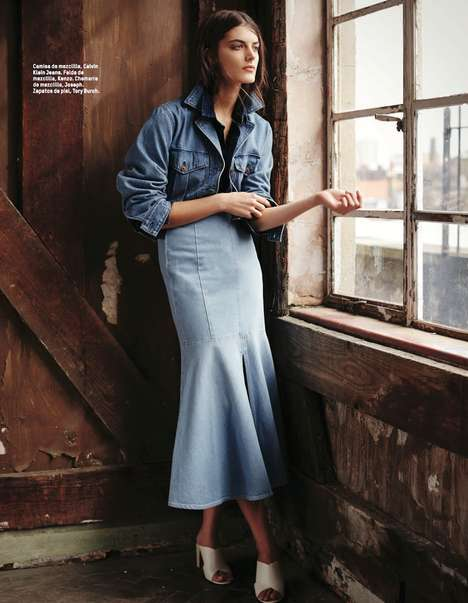 Deluxe Denim Editorials - The L'Officiel Mexico Rokas Darulis Photoshoot Features Upscale Jean Looks