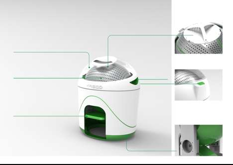 Foot-Powered Washing Machines - The Foot-Power Washer Allows You to Wash Clothes Anywhere