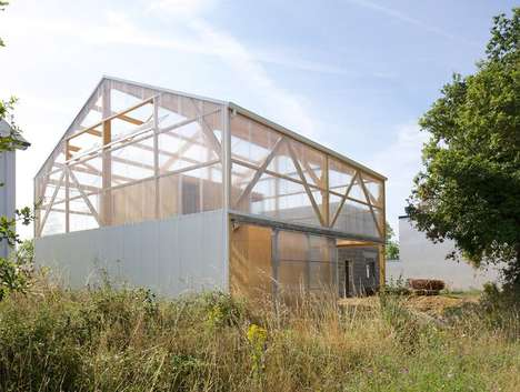 Stripped-Down Houses - The Maison D is a Utilitarian and Affordable Family Home