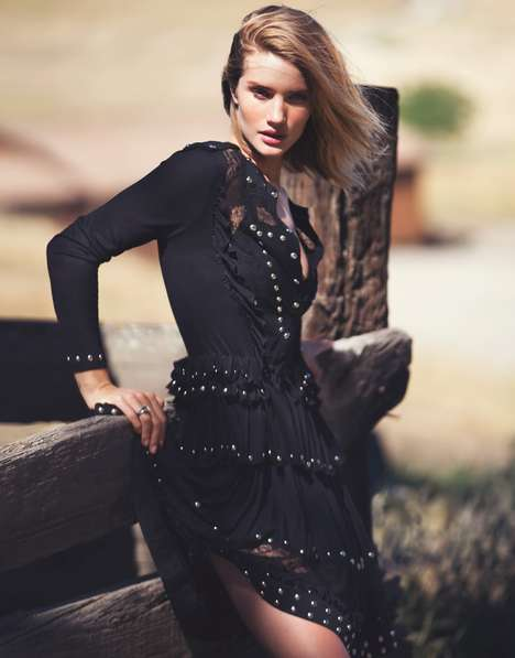 Rustic Rancher Editorials - The Edit by Net-A-Porter David Bellemere Photoshoot is Farm-themed