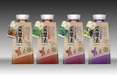 Wild Fruit Juice Branding - This Chinese Beverage Packaging Design Features a Reference to Its Name