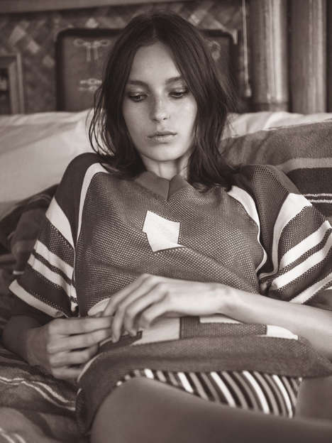 Subdued 1970s Editorials - The Vogue Paris Glen Luchford Photoshoot Tones Down Old School Looks