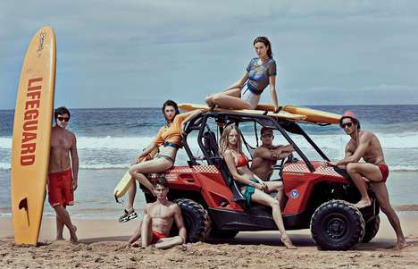 Grouped Lifeguard Editorials - The Harper's Bazaar China Training Day Photoshoot Focuses on Beaches