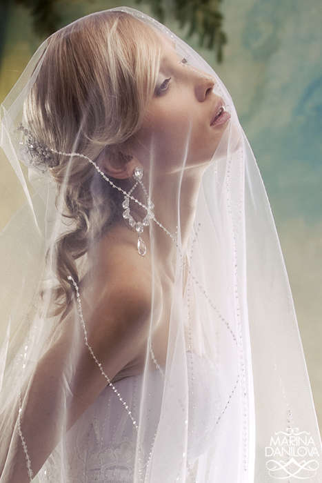 40 Blushing Bridal Editorials - From Bewitching Bridal Editorials to Withering Wedding Woe Shoots